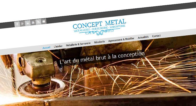 notre nouveau site internet est en ligne concept metal. Black Bedroom Furniture Sets. Home Design Ideas