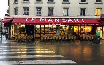 Devanture Brasserie Le Mansart 75009 Paris