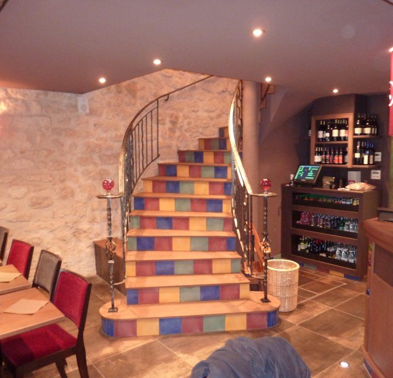 Rambarde métallique escalier