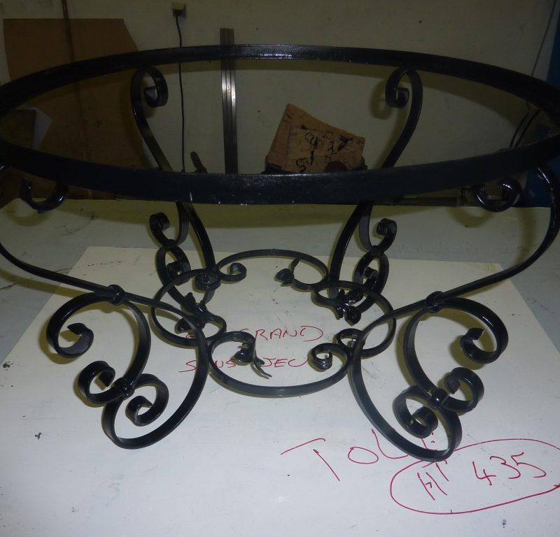 Fabrication table métal