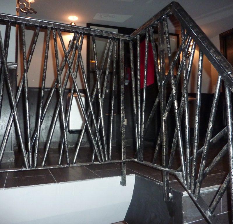 Rampe d'escalier métal