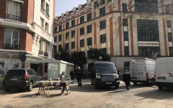 Terrasse fermée en angle de rue Brasserie les Deux Stades Paris 16
