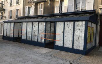 Terrasse fermé en acier brasserie L'industrie Rambouillet 78120